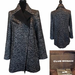 Club Monaco wool blend coat with zipper closure